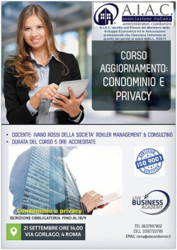 Privacy in condominio: adempimenti e responsabilità